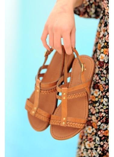 Pembe Potin A210-20 Kadın sandalet A210-20 Taba